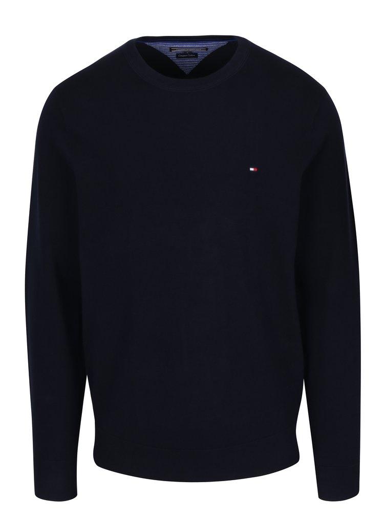Tmavomodrý pánsky sveter Tommy Hilfiger Compact