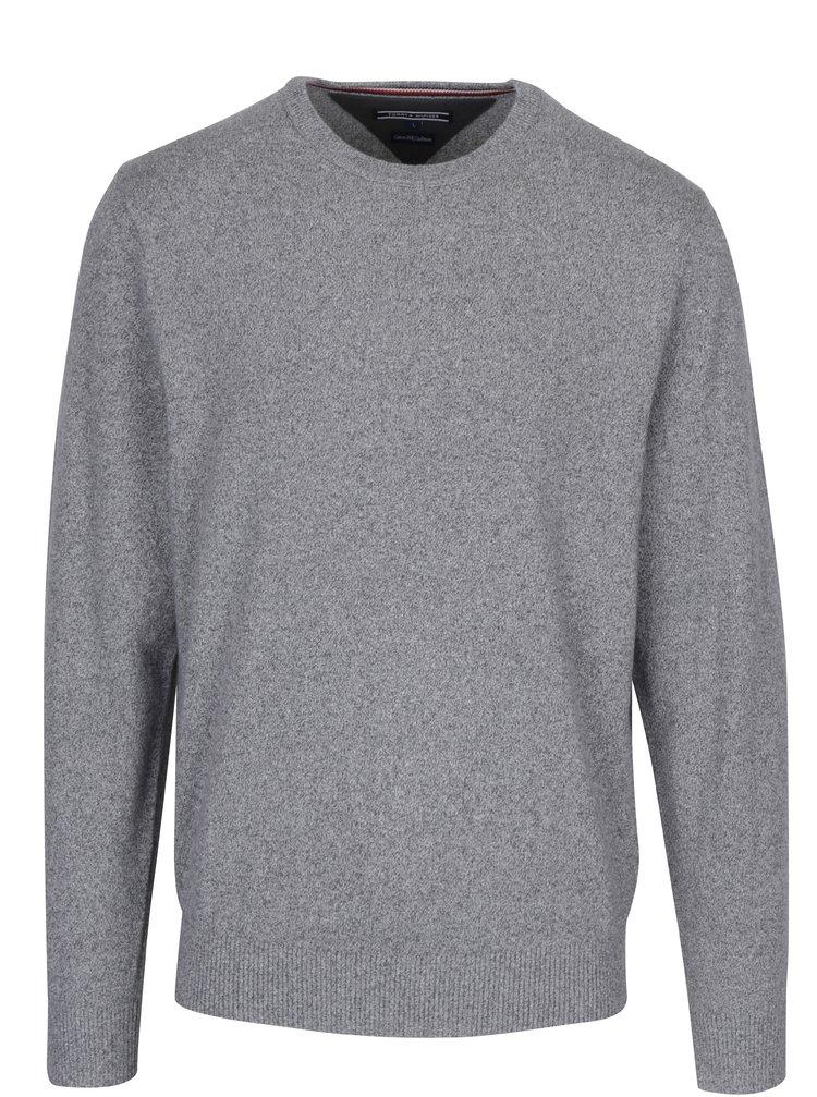 Šedý pánský svetr s příměsí hedvábí Tommy Hilfiger Elevated