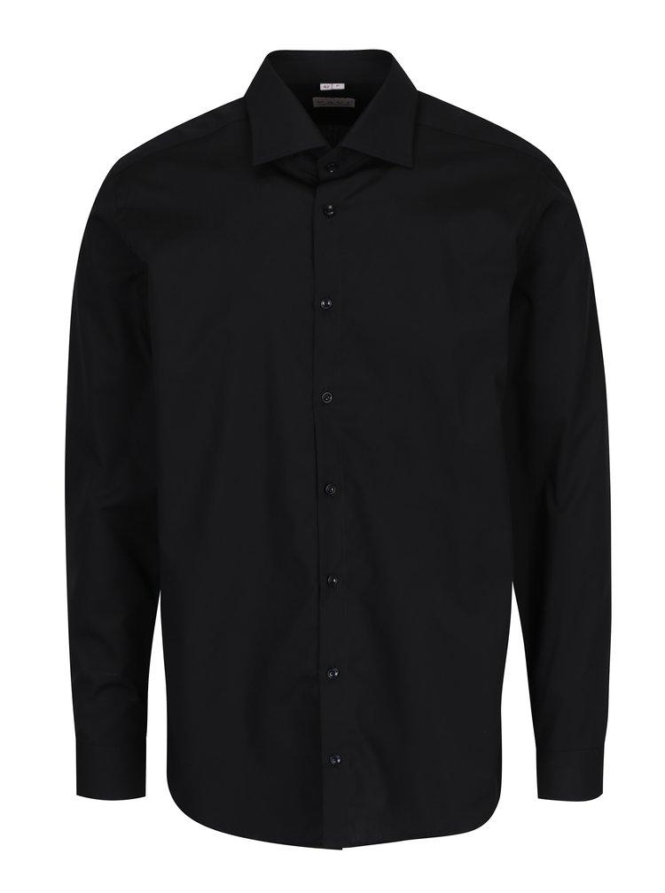 Camasa neagra barbateasca din bumbac -  VAVI