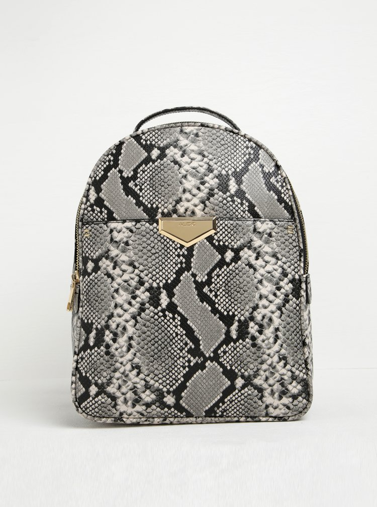 Černo-šedý batoh s hadím vzorem ALDO Hughson