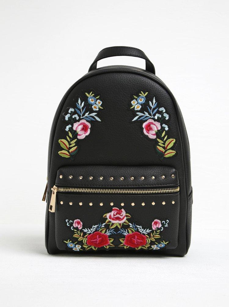 Rucsac negru cu broderie florală ALDO Dare