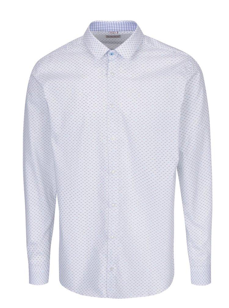 Bílá pánská vzorovaná formální košile VAVI