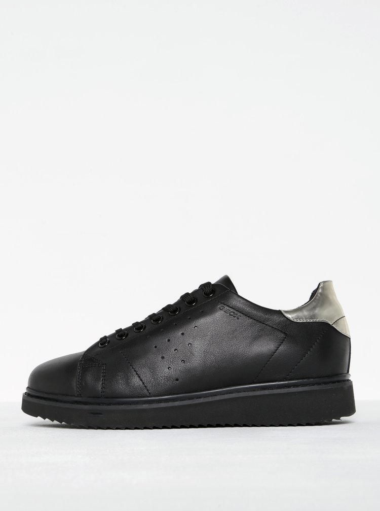 Pantofi sport negri din piele naturala pentru femei - Geox Thymar A