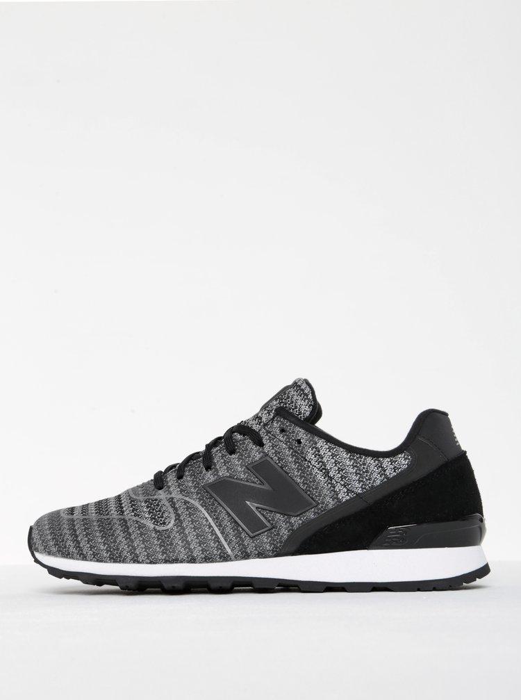 Pantofi sport negru cu gri pentru femei - New Balance 996