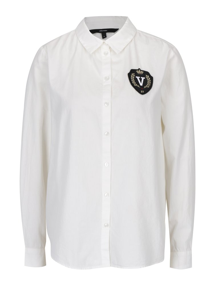 Krémová košile s nášivkou VERO MODA Leah