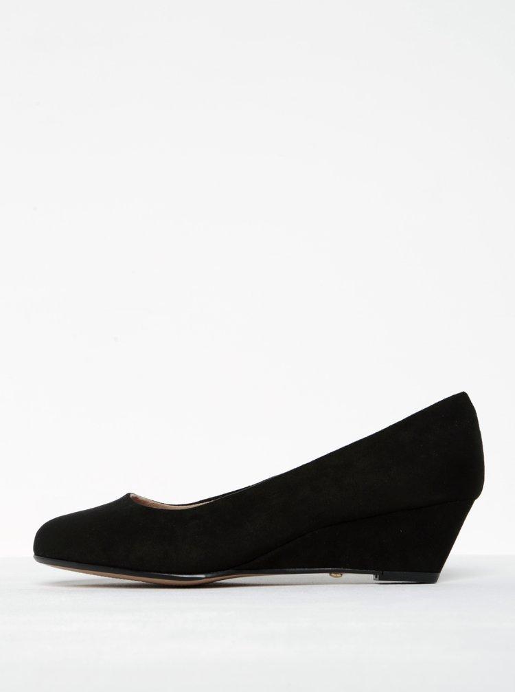 Pantofi negri wedge din piele sintetica Dorothy Perkins