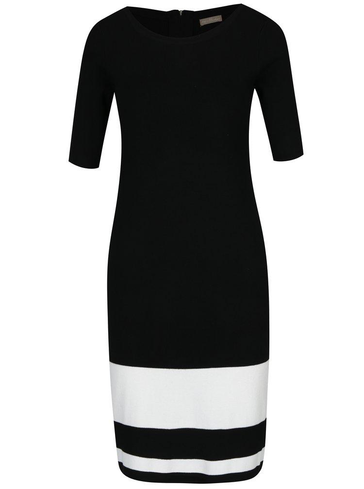 Rochie neagră tricotată cu dungi albe M&Co