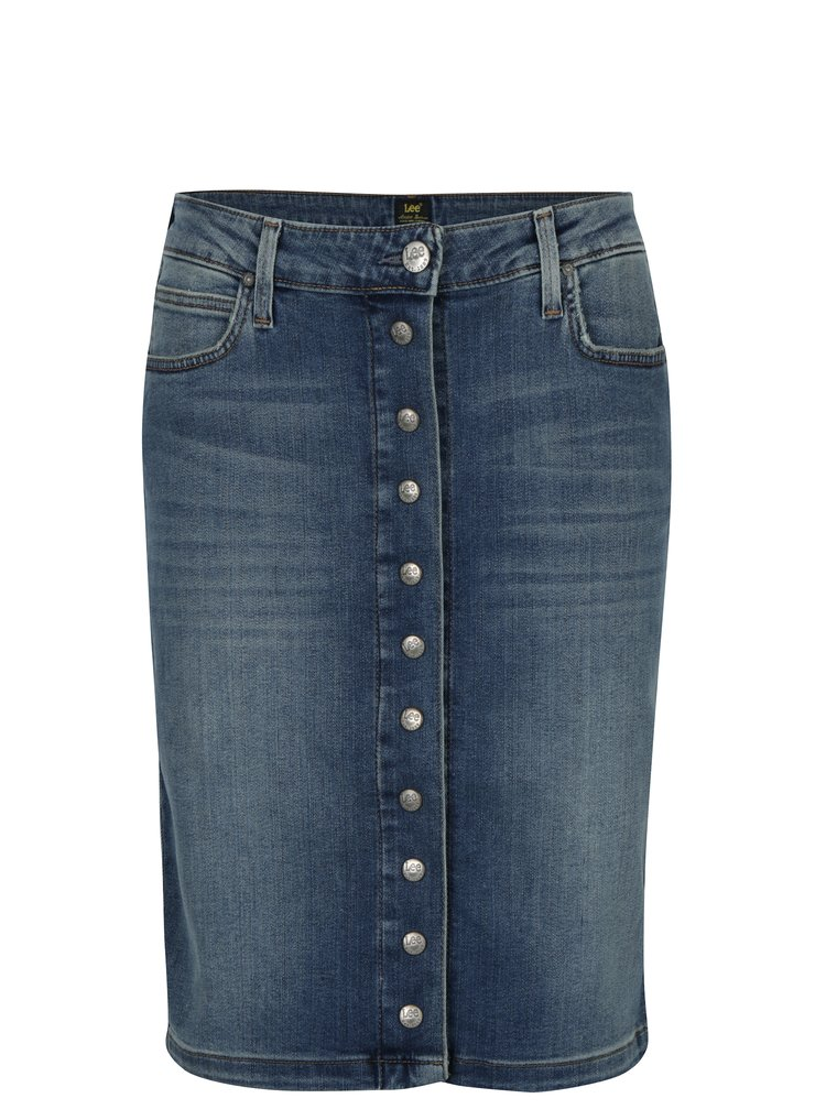 Modrá dámská džínová pouzdrová sukně Lee Brooklyn