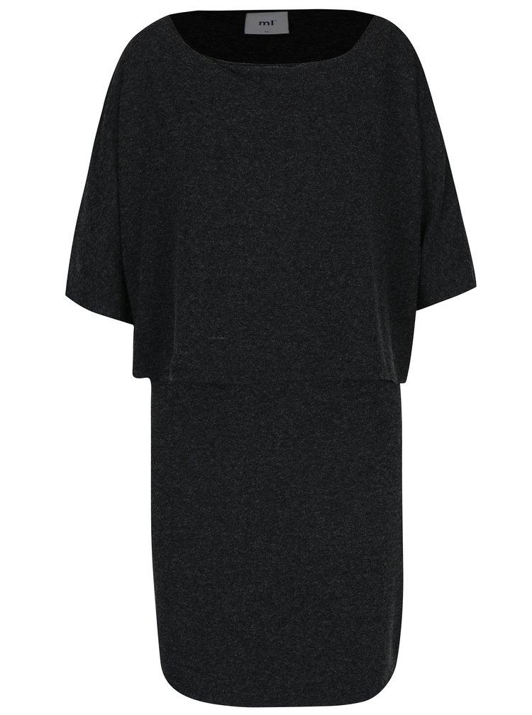 Tmavě šedé žíhané kojicí šaty Mama.licious Marcel