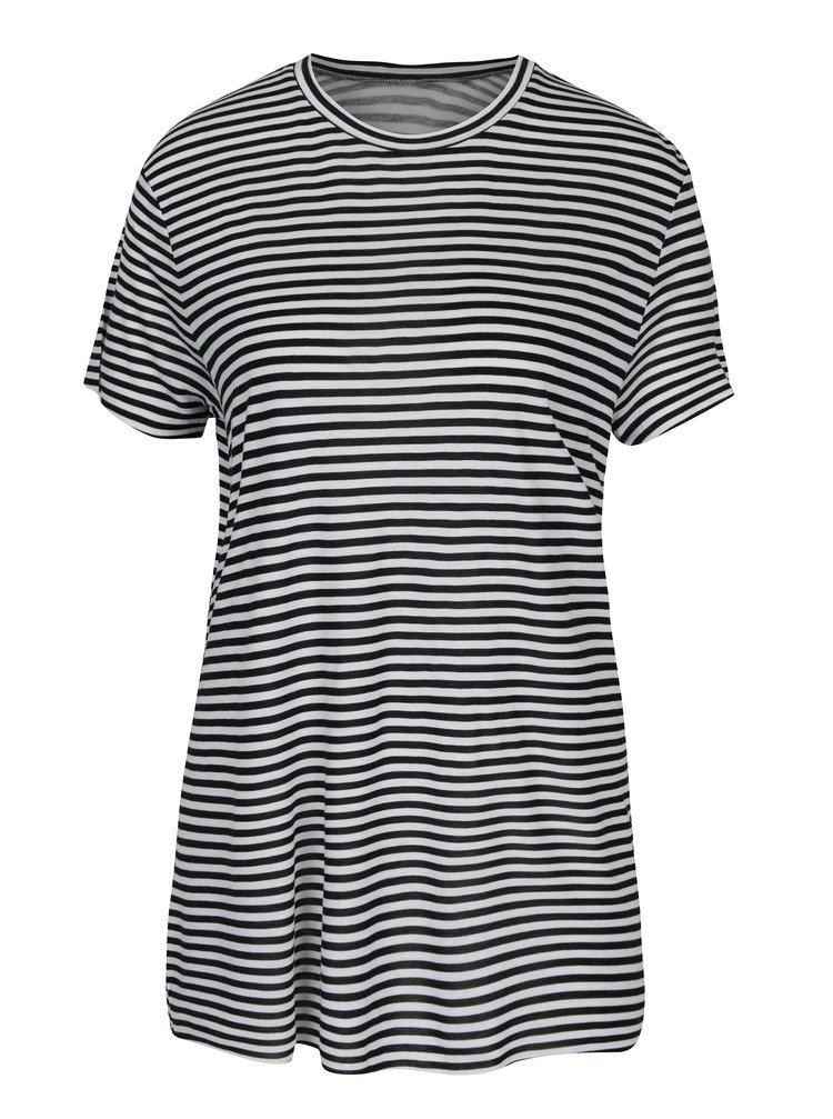 Tricou cu dungi alb & negru și decupaj adânc pe partea din spate - Cheap Monday