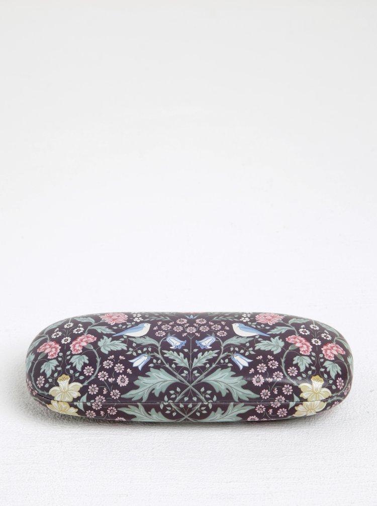 Toc violet cu imprimeu floral pentru ochelari - Sass & Belle Midnight Garden