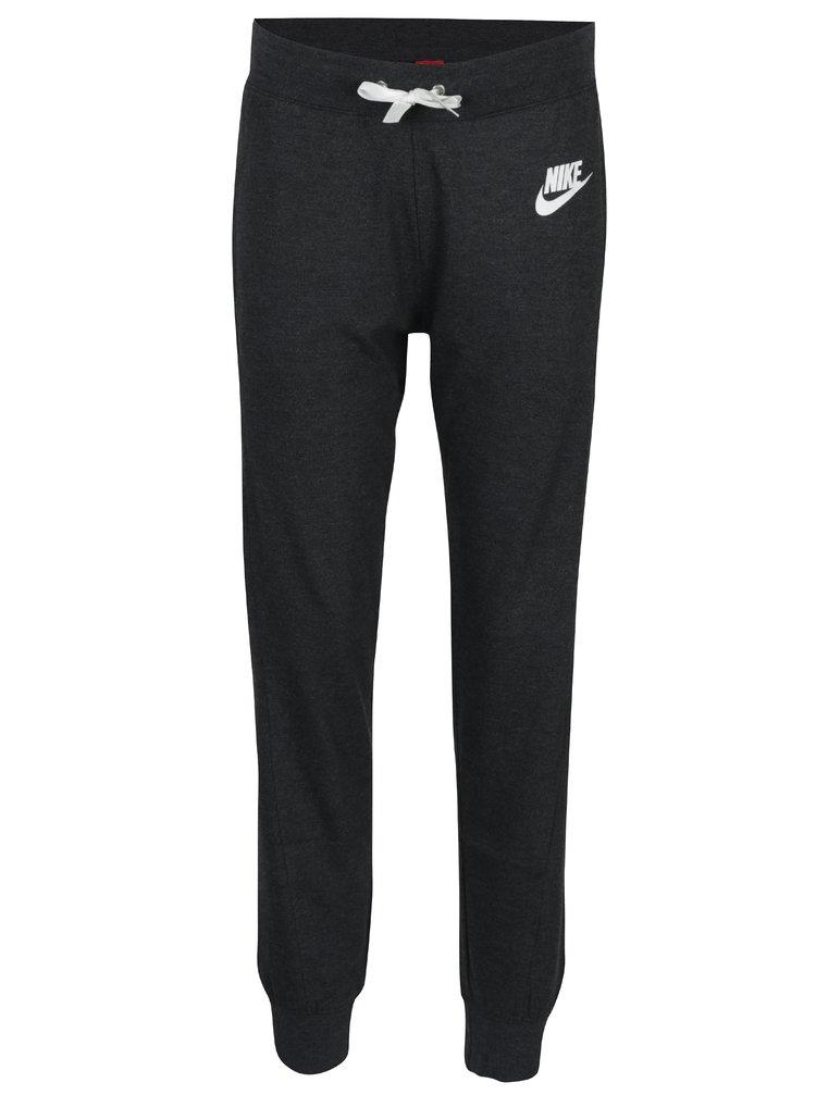 Tmavě šedé dámské tepláky Nike Sportswear Gym