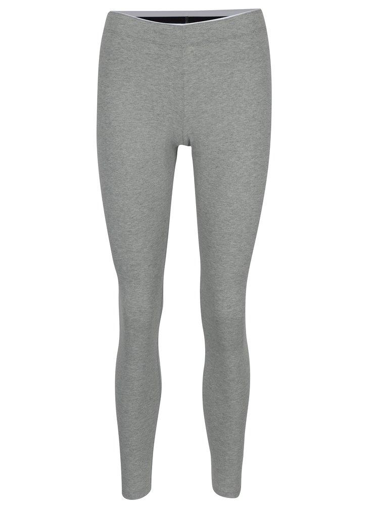 Šedé dámské žíhané sportovní legíny s potiskem Nike Sportswear Logo Club