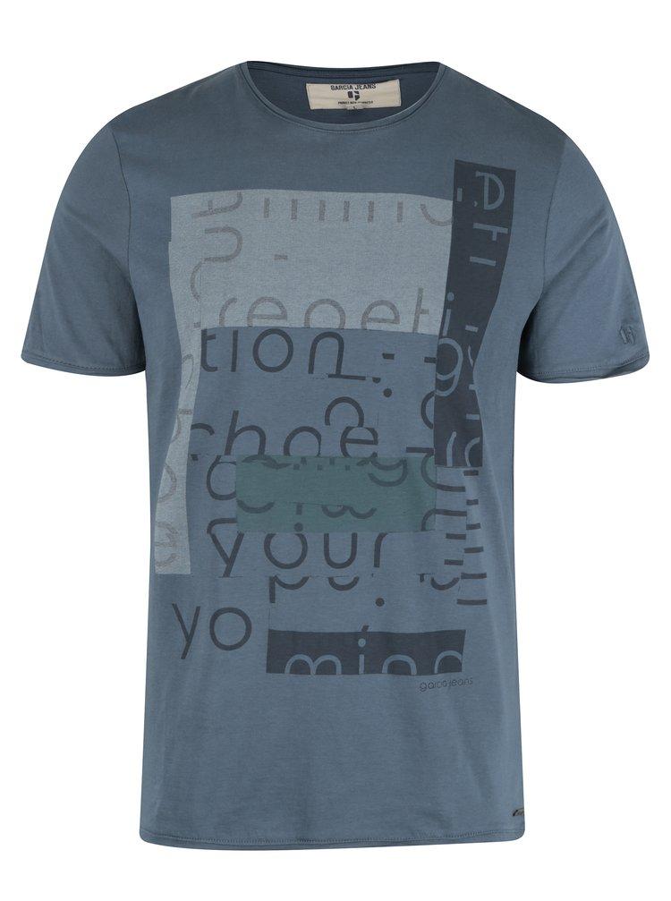 Tmavě modré pánské tričko s krátkým rukávem Garcia Jeans