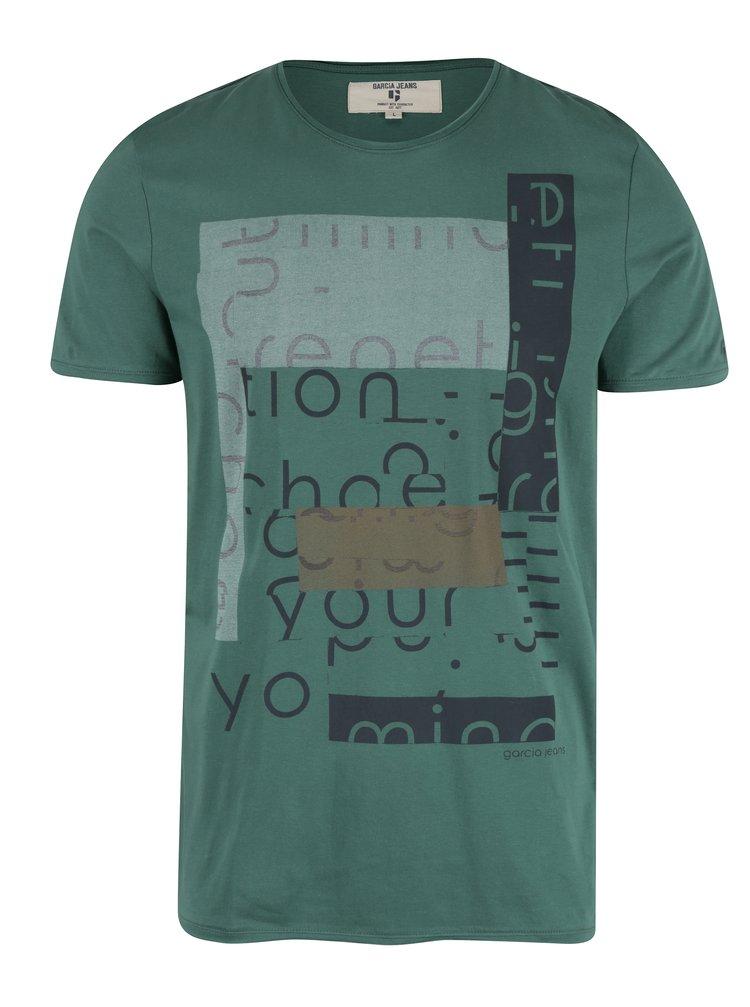 Zelené pánské tričko s krátkým rukávem Garcia Jeans