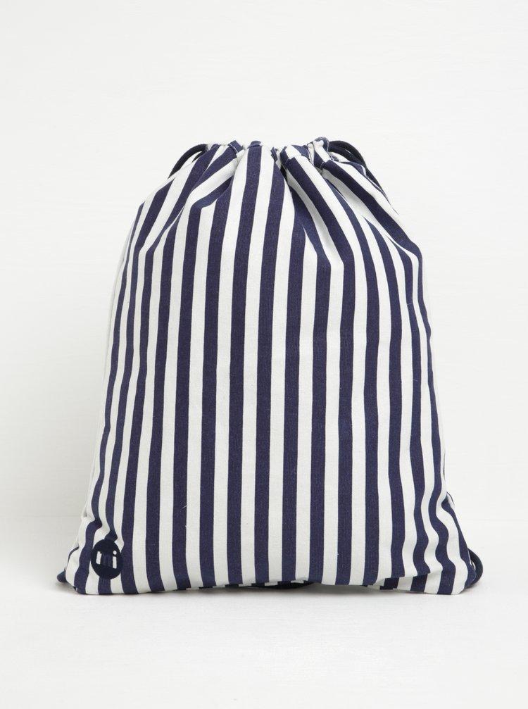 Rucsac unisex cu dungi albastru & crem - Mi-Pac Kit Bag Seaside Stripe