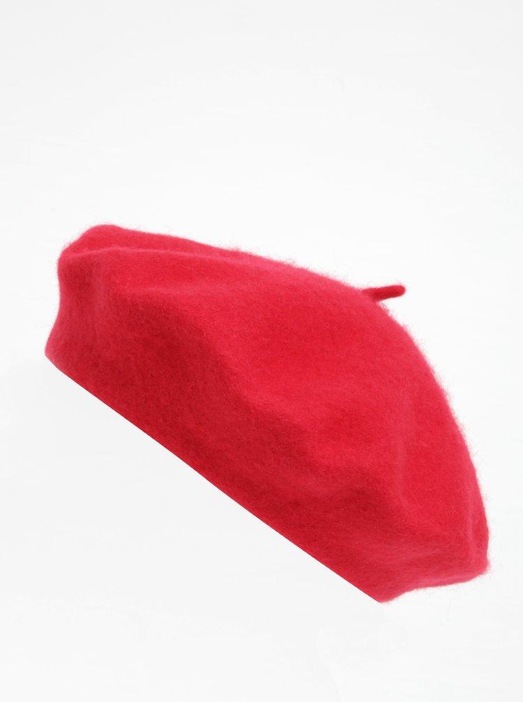 Červený vlnený baret VERO MODA Emily