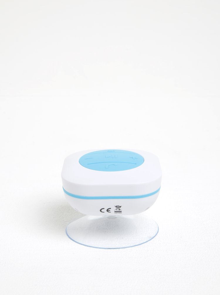 Modro-bílý voděodolný bluetooth reproduktor Loooqs
