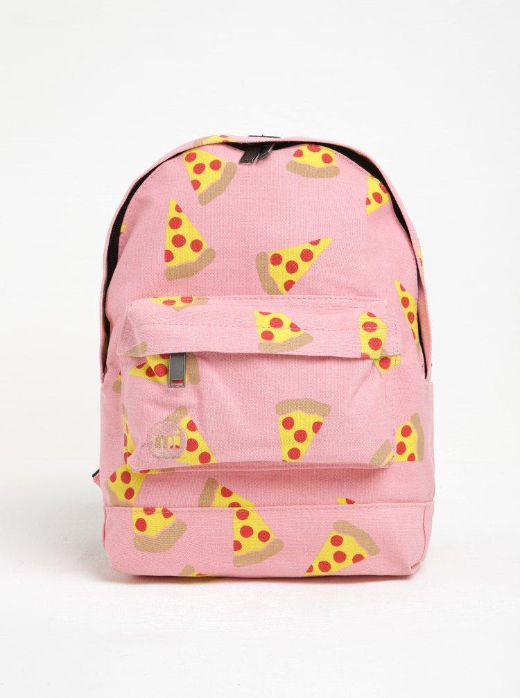 Růžový dětský batoh s potiskem pizzy Mi-Pac Mini Pizza 10,5 l