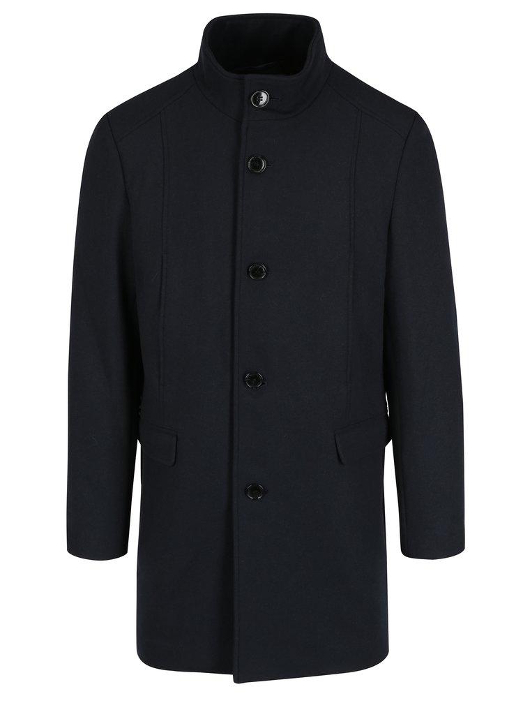 Palton bleumarin din amestec de lana Selected Homme Mosto
