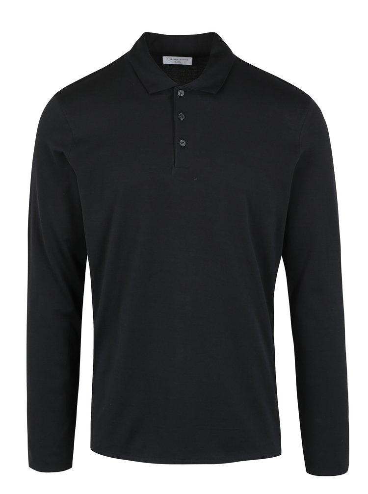Bluza polo neagra Selected Homme Blake