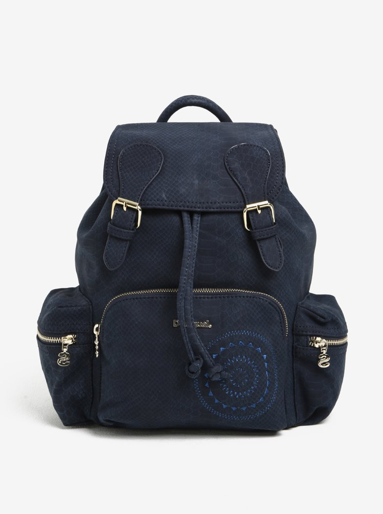 Modrý vzorovaný batoh Desigual Vancouver Agora