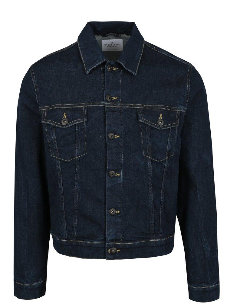 Jacheta albastra din denim pentru barbati