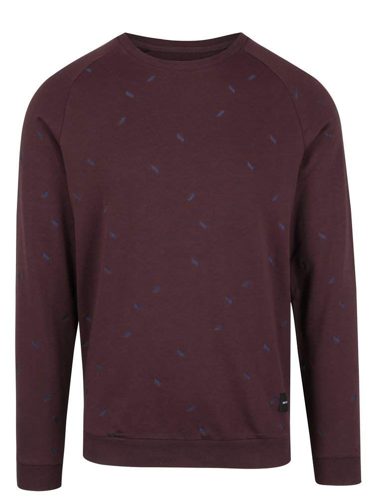 Pulover bordo cu broderie ONLY & SONS Chester