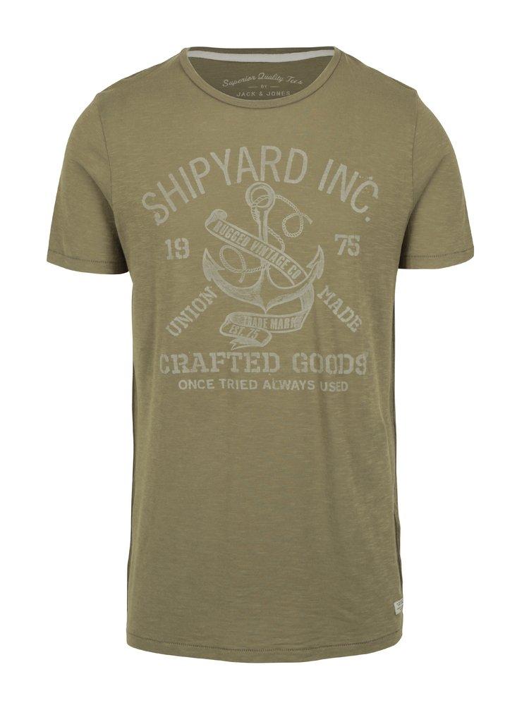 Zelené tričko s potiskem Jack & Jones Haden