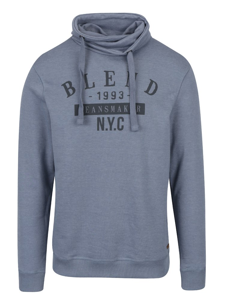 Hanorac bleu&negru cu inscriptie Blend