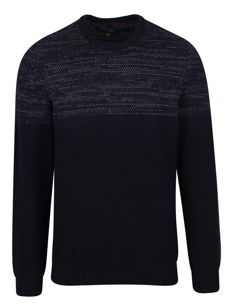 Černý slim fit svetr s drobným vzorem Blend