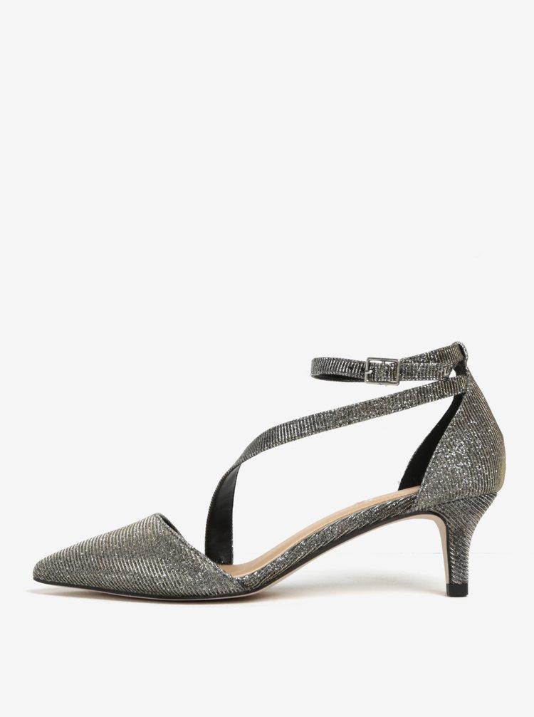 Pantofi aurii cu aspect stralucitor si bareta pe glezna -  Miss KG Archer