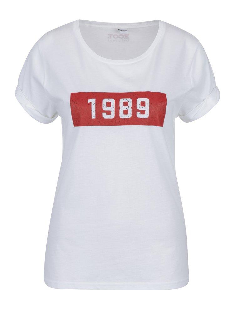 Biele dámske tričko s potlačou ZOOT Original 1989