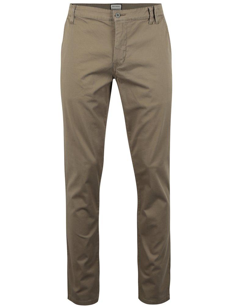 Hnědé chino kalhoty Shine Original