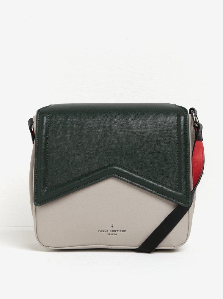 Zeleno-šedá crossbody kabelka s neonovými detaily Paul's Boutique Abi