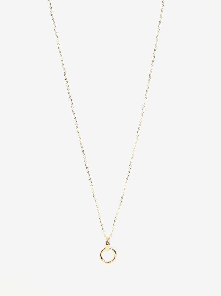 Colier auriu cu pandantiv rotund dublu Pieces Crino