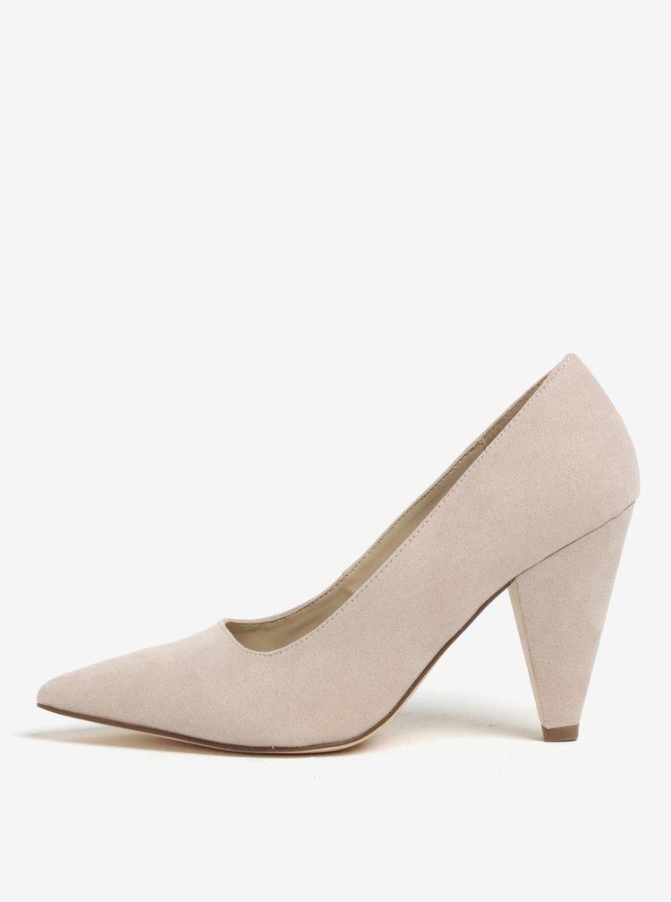 Pantofi bej cu aspect de piele intoarsa Miss Selfridge