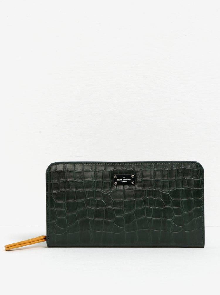 Portofel verde inchis cu model piele de sarpe Paul's Boutique Carla