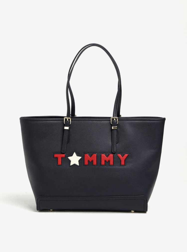 Tmavě modrý shopper Tommy Hilfiger Honey