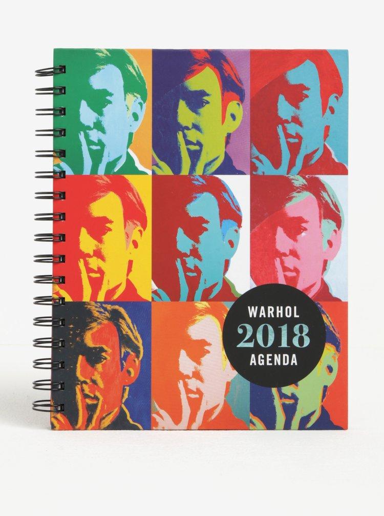 Diář pro rok 2018 Galison Andy Warhol