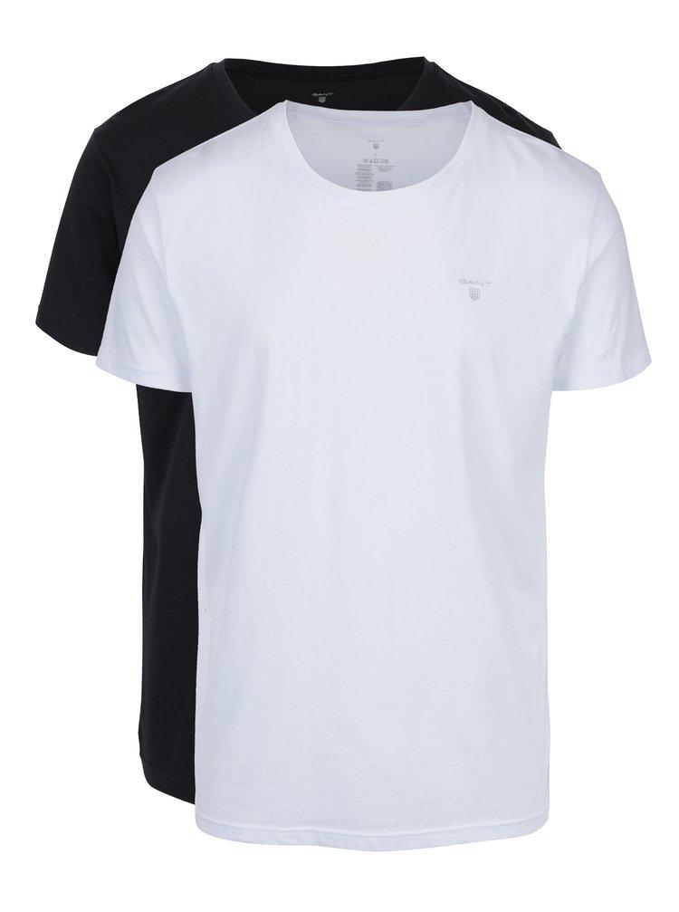 Sada dvou pánských triček v bílé a černé barvě GANT