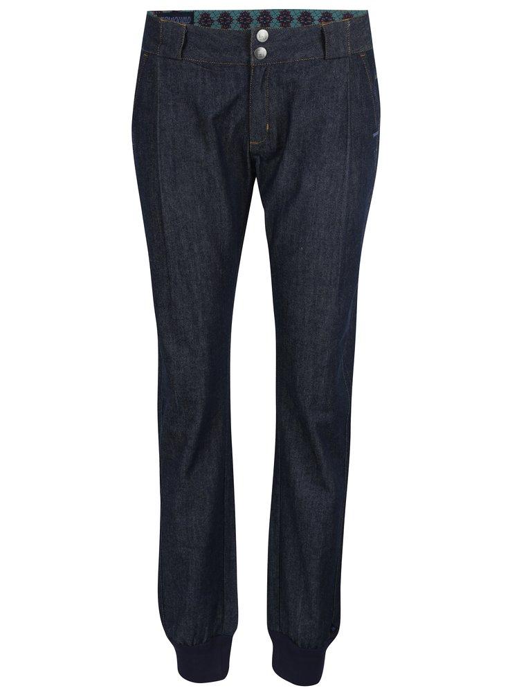 Tmavě modré žíhané džíny s kapsami Tranquillo Aroa