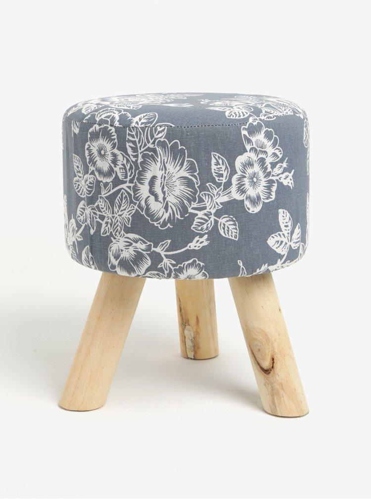Krémovo-šedý květovaný sedák Dakls