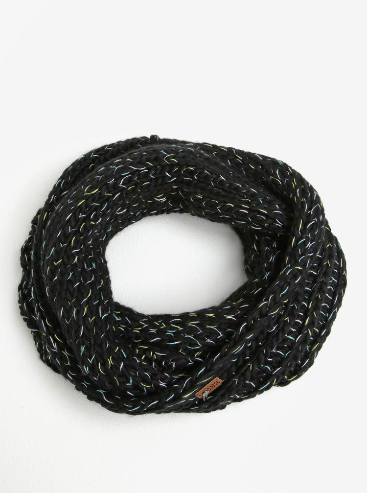 Fular negru melanj circular pentru femei - Roxy Nola