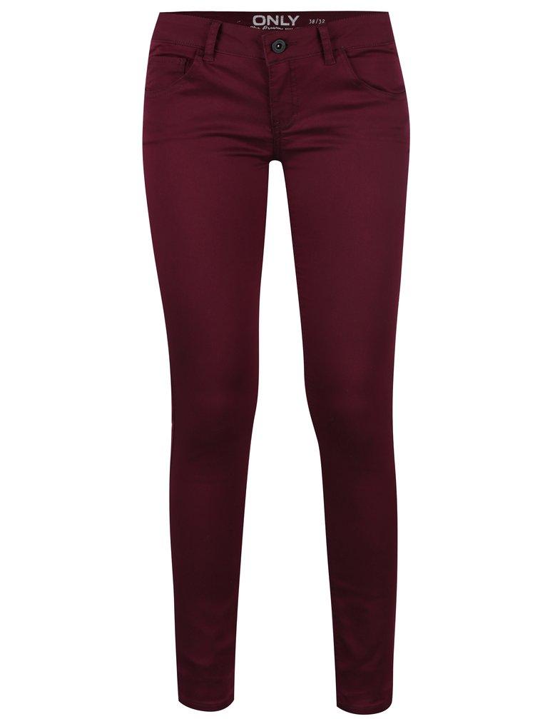 Vínové skinny džíny ONLY Lucia