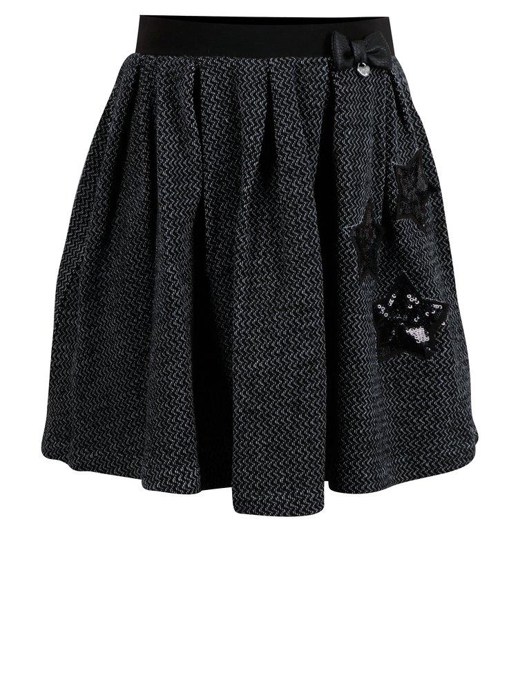 Bielo-čierna dievčenská vzorovaná sukňa North Pole Kids