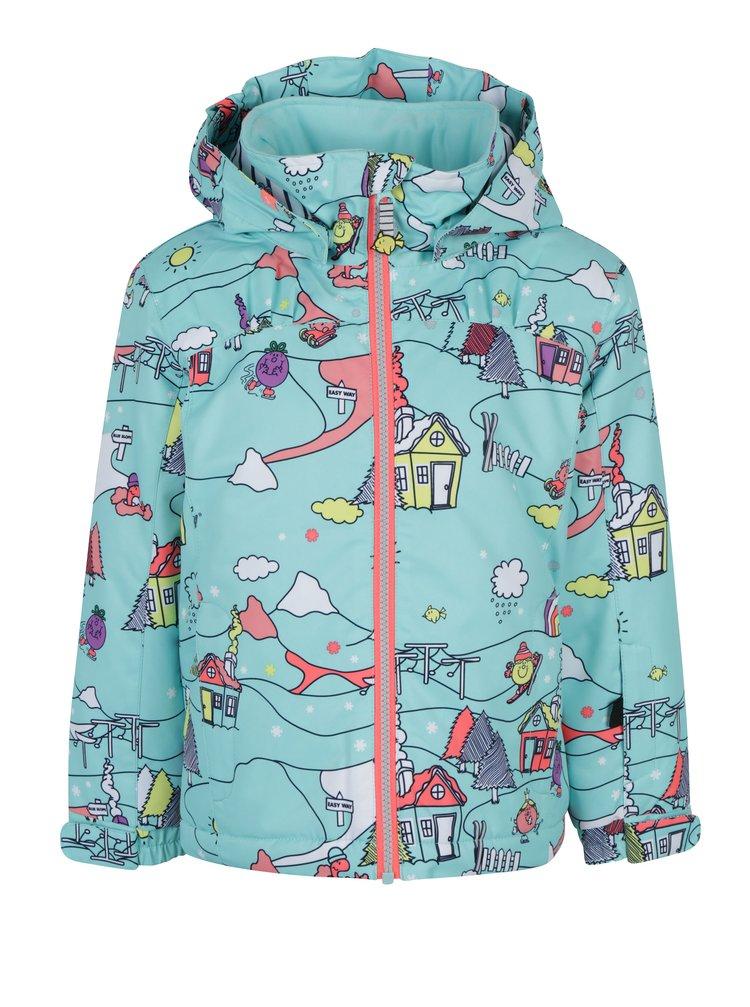 Světle modrá holčičí vzorovaná bunda Roxy Mini Jetty