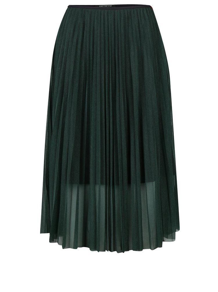 Zelená průsvitná plisovaná sukně Fornarina Lorita