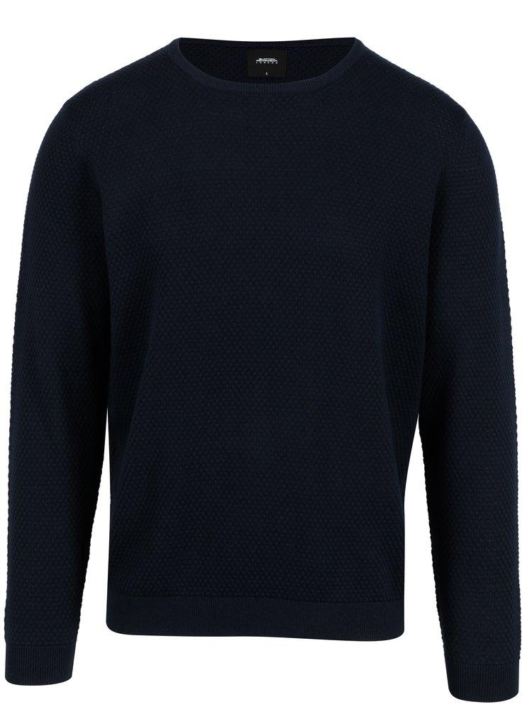 Pulover bleumarin din bumbac pentru barbati - Burton Menswear London