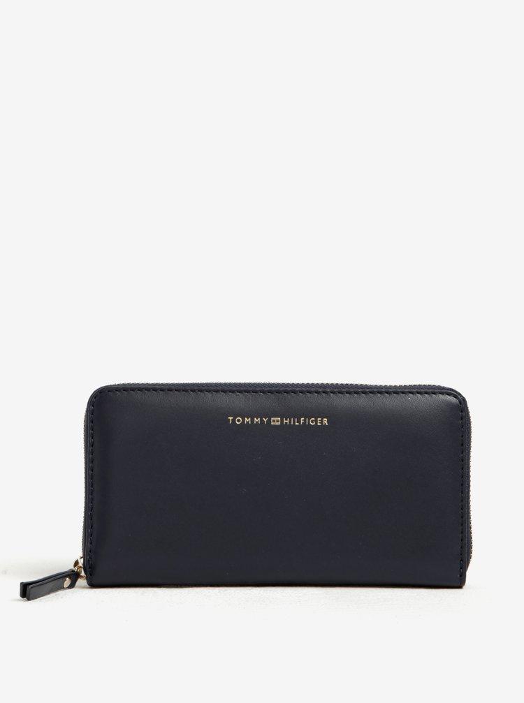 Tmavě modrá dámská kožená peněženka Tommy Hilfiger